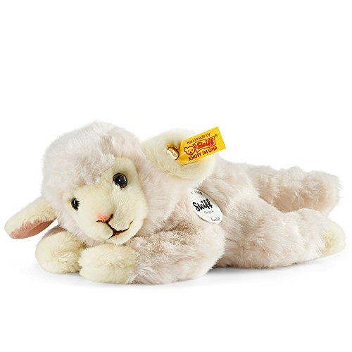 Steiff Linda Lamm - 22 cm - Plüschschaf liegend - Kuscheltier für Kinder - weich & waschbar - weiß (280030)