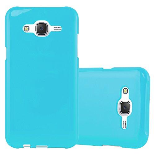 Cadorabo Funda para Samsung Galaxy J5 2015 en Jelly Azul Claro - Cubierta Proteccíon de Silicona TPU Delgada e Flexible con Antichoque - Gel Case Cover Carcasa Ligera