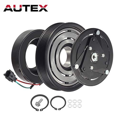 AUTEX AC A/C Compressor Clutch Coil Assembly Kit 92600JA00A compatible with Altima 2007 2008 2009 2010 2011 2012 4CYL 2.5L compatible with Sentra 2007 2008 2009 2010 2011 2012 4CYL 2.5L