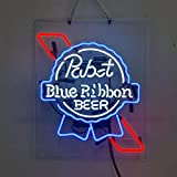 Pabst Blue Ribbon Beer Bar Pub Store Party Room Wall Windows Display Neon Signs 19x15