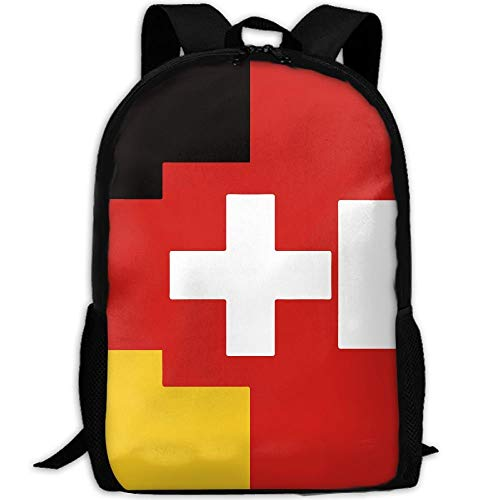 Mochila Escolar Bandera Suiza Austríaca Alemana Interés Informal Impresión Única Mochila Duradera Personalizada Mochila Universitaria Mochila Escolar Mochila De Viaje Regalo De Cum