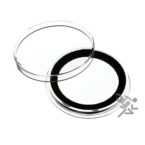 (15) Air-tite X39mm Black Ring Coin Holder Capsules for Medallions...