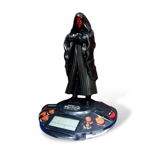 Elbenwald Star Wars Sith Radio-Wecker/Uhr - Darth Maul Wecker mit Licht und Sound 30cm hoch