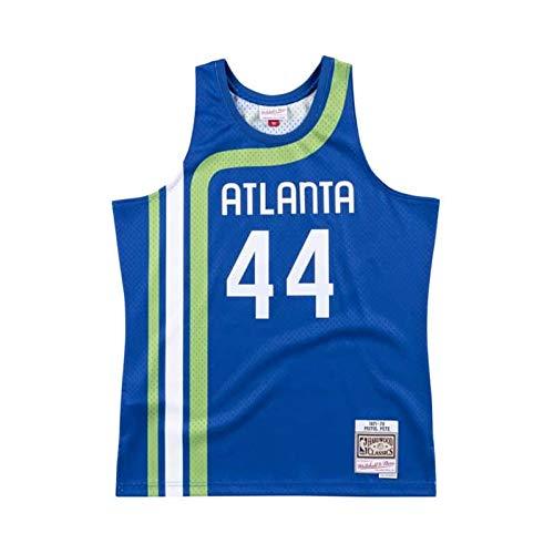 Mitchell & Ness NBA Swingman Pete Maravich Atlanta Hawks 1971-72 Hardwood Classics - Camiseta para hombre, color azul marino