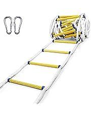 Touwladder Brandwerende Reddingsladder 3m-50m (9,8-164 Voet), Multifunctionele Ladder Voor Zware Toepassingen, Reddingsladder, Perfect Voor Ramen En Balkons (15m/49.2FT)