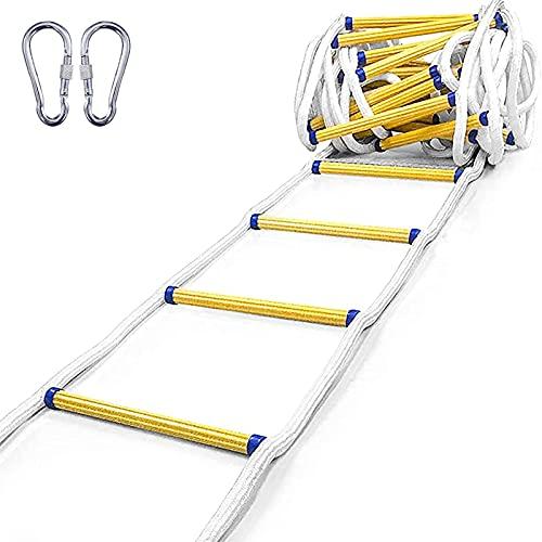 Escalera De Cuerda Escalera De Rescate A Prueba De Fuego 3m-50m (9.8-164 Pies), Escalera Multifuncional Resistente Escalera De Cuerda De Rescate, Perfecta Para Ventanas Y Balcones (30m/98.4FT)