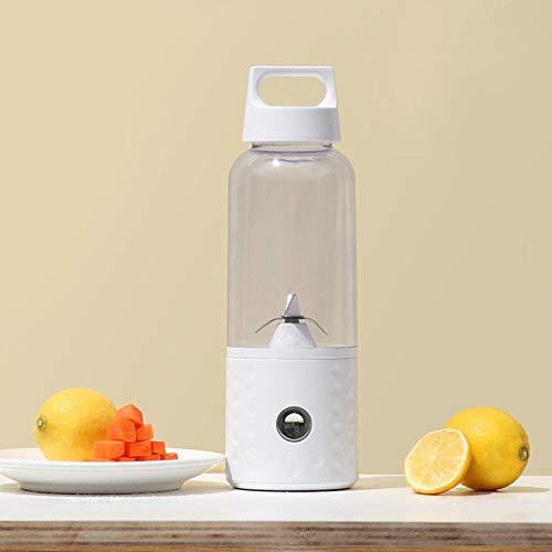 Mini Entsafter, Juice Cup Elektrischer tragbarer Mini USB Wiederaufladbarer Zitronenbecher-Mixer für Fruchtshakes-Weiß für Saft, Smoothie und Milchshake