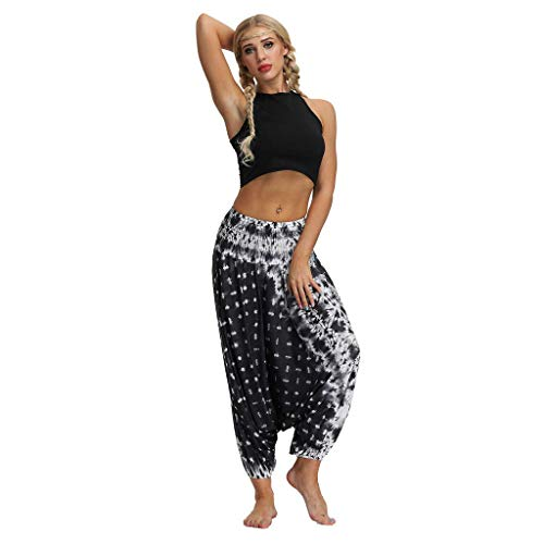 Harén Pantalones Pantalones De Yoga Pantalones Mujeres Festival Boho de Moda Deportivos Pantalones Deportivos Bloomers De Mujer Ligeras De Verano Pantalones Harén Pantalones Ligeros De Ocio