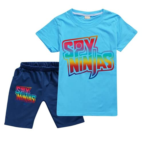 SPY Ninja Nueva Camiseta Pantalones Cortos Casual Traje De Deportes Niños Boutique Ropa Venta Al Por Mayor Bebé Niña Tops Set Niños Camiseta