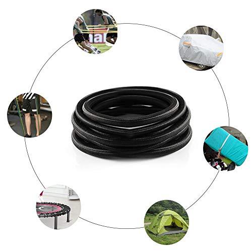 hinffinity - Cable de tensión para cama de salto, extensor de lona elástica, resistente, para asegurar choque, cuerda elástica para saltar, cama de tensión, color negro