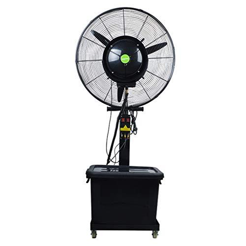 Ventilador de Pedestal Industrial Ventilador de Niebla Potente Oficinas de oscilación Enfriamiento Pulverizador de Aire Ventiladores industriales de pie Grande de Pedestal de Metal para Taller y mer