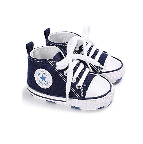 Auxma Niedlich Kind Baby Säugling Junge Mädchen weiche Sohle Kleinkind Schuhe Leinwand Sneak (0-6 Monat, Blau)