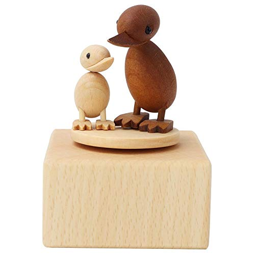 Duck Music Box, Cute Animal Wooden Carved Music Box Beech Wood Crafts Musical Toy For Birthday Present Kids Gifts Home Decor 1#