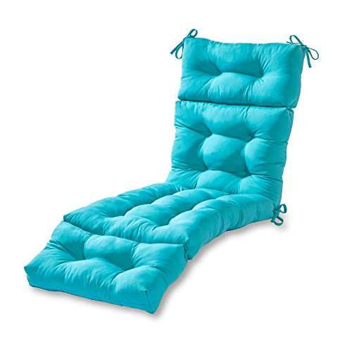 Greendale Home Fashions 72-inch Outdoor Chaise Lounge Cushion, Teal
