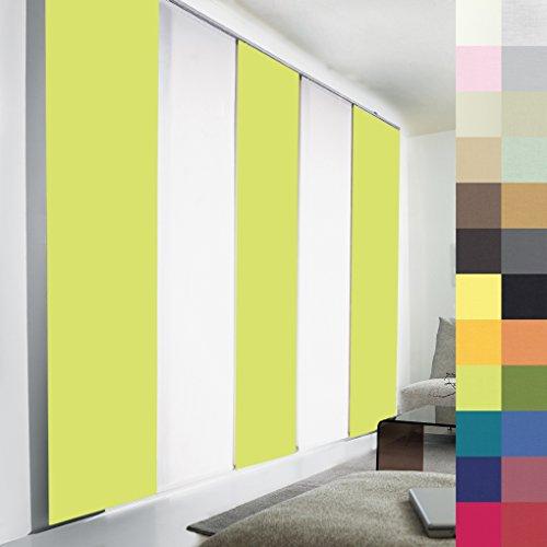 Sun World Schiebegardinen nach Maß, hochqualitative Wertarbeit, alle Größen, Maßanfertigung, Schiebevorhang, Raumteiler, Flächenvorhang, Blickdicht (100cm Höhe x 50cm Breite/Light Green)
