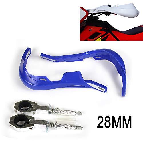 An Xin Protège-mains universels pour moto Dirt Pit Bike ATV Yamaha WR250F WR450F YZ450F YZ125 YZ250 YZ250 F Enduro Motocross Bleu 28 mm