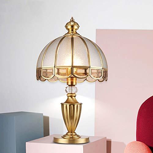 LCSD Lámpara de Escritorio E27 Cobre Lámpara De Mesa Sala De Estar Cálida Habitación De Estudio Lámpara Dormitorio De La Boda Creativa Retro Simple Decorativa Lámpara De Noche