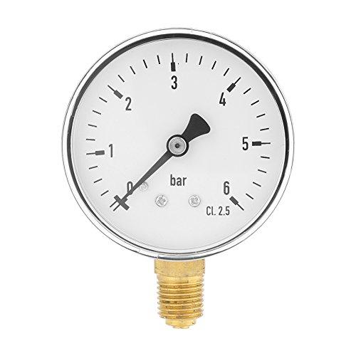 60mm Dia 0-6bar Pneumatische Hydraulische Manometer Meter Gas Wasser Öldruck Tester Piezometer 1/4
