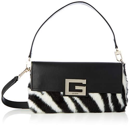 Guess Brightside Shoulder Bag, BAGS CROSSBODY para Mujer, Cebra, Talla única