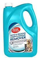 Simple Solution Patio & Deck Outdoor stain & odour remover instantly neutralizes dog and pet waste odours like urine and faeces and is completely safe to use around pets and children Patio & Deck cleaner uses dual-action odour eliminators (the latest...