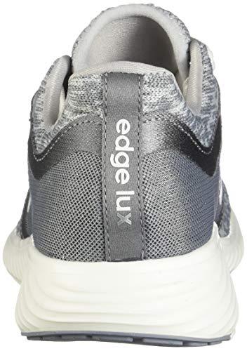 adidas Women's Edge Lux 3 Running Shoe, grey/cloud white/silver metallic, 8.5 M US 9