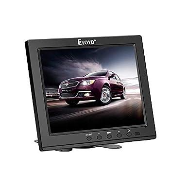 Eyoyo 8 Inch HDMI Monitor 1024x768 Resolution Small Display Portable 4 3 TFT LCD Mini Monitor HD Color Screen Support HDMI VGA BNC AV Ypbpr Input