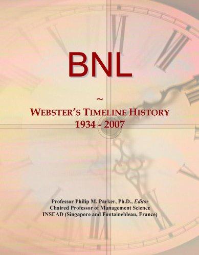 BNL: Webster's Timeline History, 1934 - 2007
