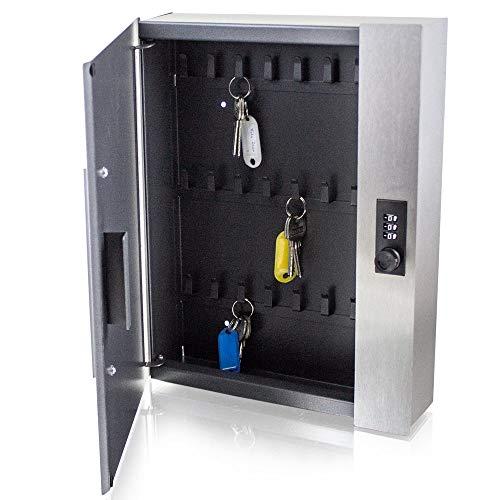BITUXX® Safe Tresor Schlüsselsafe Schlüsselkasten Schlüsseltresor Schlüsselsafe Schlüsselschrank mit 24 Schlüsselhacken und Zahlenschloss