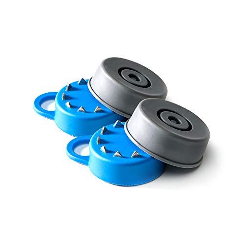Paar (2x) Stuck Flexyfoot Fuß für Gehhilfen, für besseren Halt bei Schnee - und Eisglätte, mit Schutzabdeckung