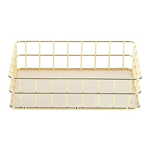 Golden Wire Storage Tray, Desktop Storage Rack Cosmetische houder Shampoo houder voor slaapkamer badkamer(#1)
