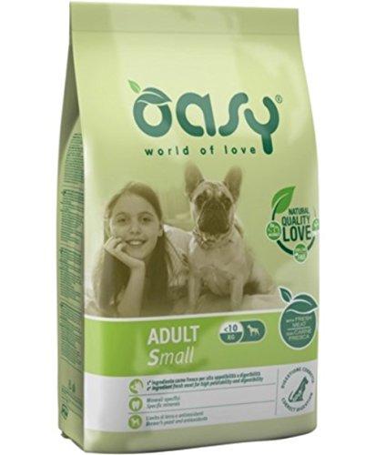 Oasy Alimento Secco per Cane Adult Small 3Kg - Mangimi Secchi per Cani
