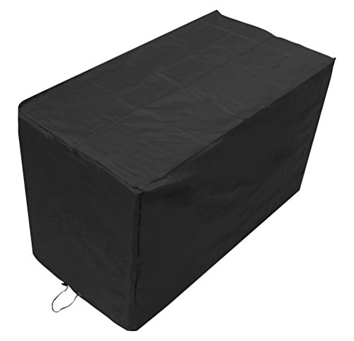Woodside Black Square Bistro Waterproof Outdoor Garden Patio Furniture Set Cover Heavy Duty 600D Material 1.5m x 0.7m x 0.92m/5ft x 2.3ft x 3ft 5 YEAR GUARANTEE