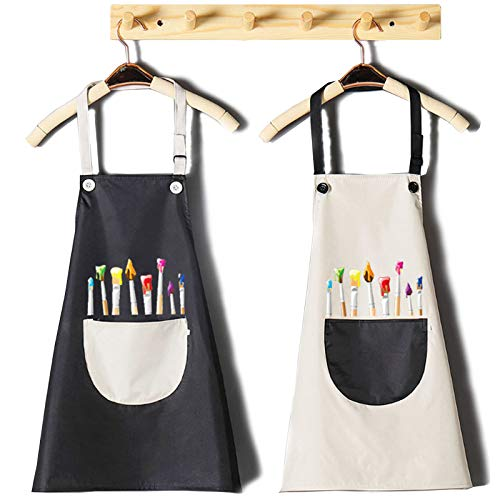 INSANYJ Tablier Enfant - 2 Ensembles de Tablier Peinture Enfant,Il Convient à l'artisanat,La Cuisine et La Peinture, Convient aux Garçons et aux Fillestablier de Cuisine de 7 à 13 Ans
