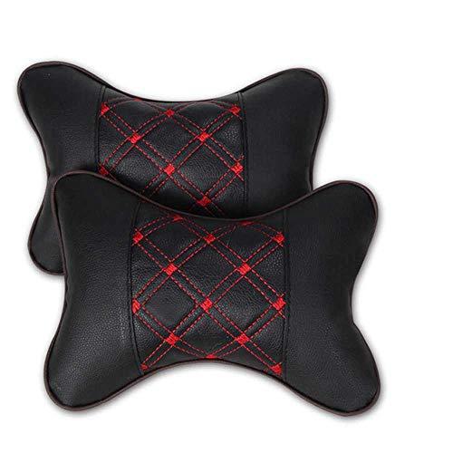 XQRYUB Cuscino per Collo Auto in Pelle PP Cotone per Auto Forniture per poggiatesta per Collo Cuscino di Sicurezza per Auto