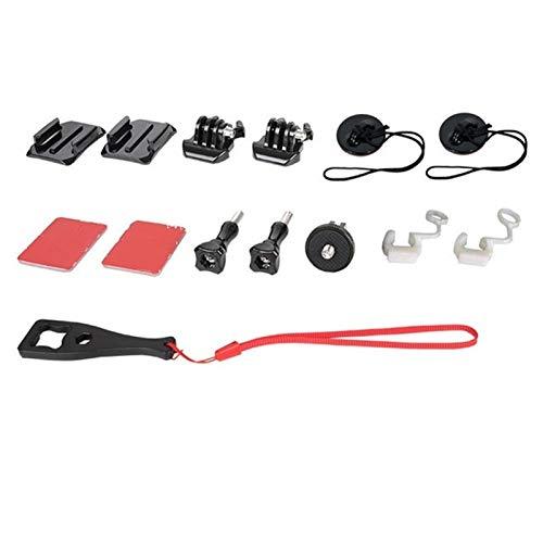 DAXINIU Casco de la Motocicleta Montar el Soporte Base Varilla de extensión de Montaje Acción Accesorios cámara del Deporte Kit Adaptador for Insta360 Uno X Accesorios de la cámara (Colour : Set 1)