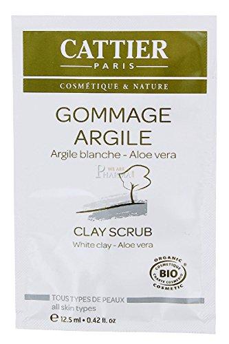 CATTIER Gommage Argile Blanche 12,5 ml (1 lot de recharges de 12 unités)