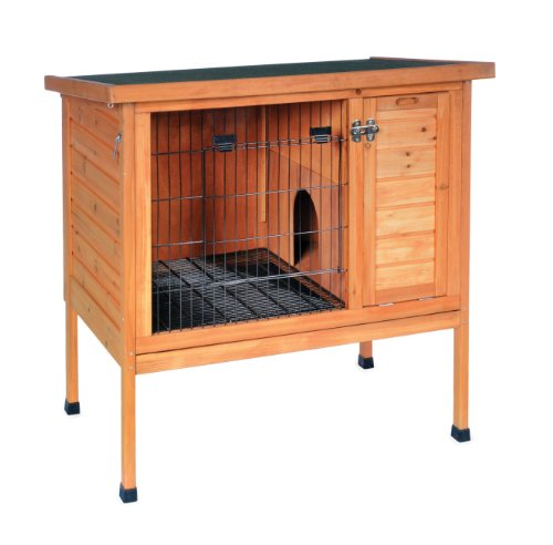 Prevue Hendryx Prevue Pet Products Small 460 Rabbit Hutch, Stained Wood