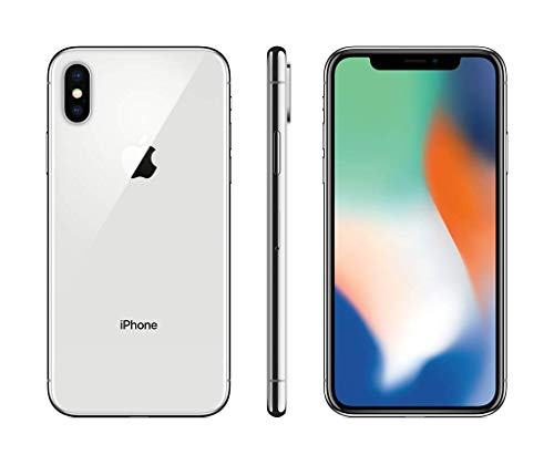 "Apple iPhone X Single SIM 4G 64GB Silver - smartphones (14.7 cm (5.8""), 64 GB, 12 MP, iOS, 11, Silver)"