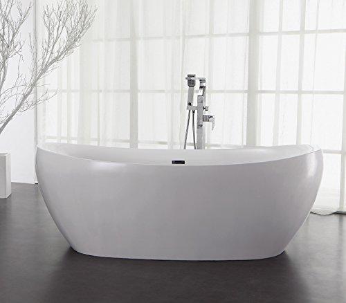 Freistehende Badewanne aus Mineralguss KZOAO-1178, Oberfläche:Glänzend