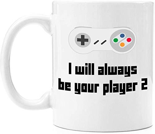 O5KFD&8 I Will Always Be Your Player Ich werde Immer Dein Spieler Sein 1 Satz von 2 Tassen | 11oz Premium Kaffeebecher Set - PC Gamer Geschenke für Männer, Geburtstag, Joke Gamer, für Kids Boys