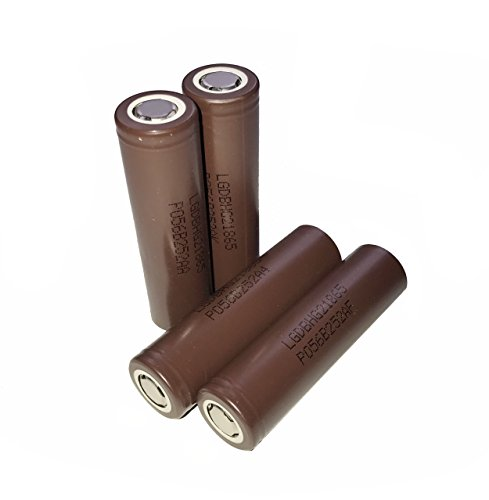 AllForBest 4pcs Authentic HG2 3000mAh 3.7v 20A Rechargeable Flat Top 18650-Battery for Flashlight