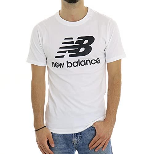 New Balance MT01575 Camiseta, Blanco, L Hombre