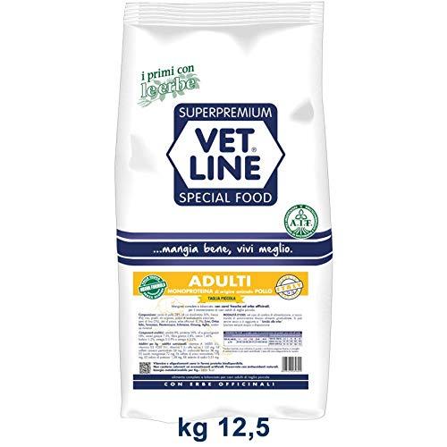 vet line crocchette al Pollo Adulti Taglia Piccola 12,5 kg monoproteico per Cani Nuova Formula Senza Mais