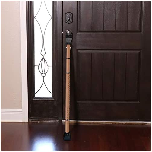 "Door Security Bar, 28"" Adjustable Length & Portable Stopper for Home and Office, Extra Safety During Travel 4"