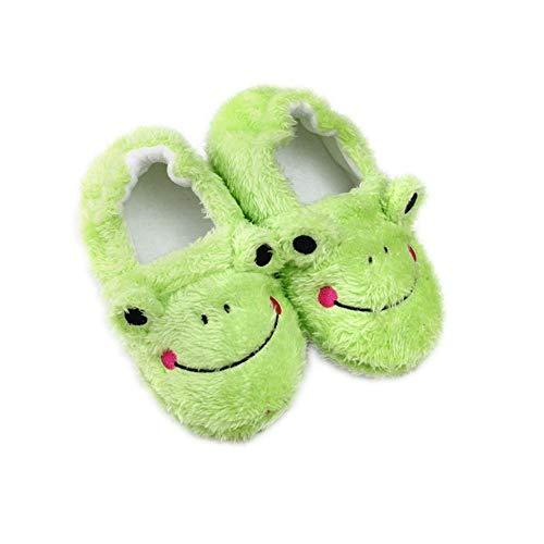 TSAITINTIN Toddler Boys Girls Froggy Slipper, Green/Frog, 11-12 Little Kid