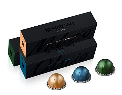 Nespresso Capsules VertuoLine, Best Seller Variety Pack, Medium and Dark Roast Coffee, 30 Count Coffee Pods, Brews 7.8 oz