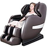 OOTORI Deluxe S-Track Massage Chair Recliner with 3D Robot Hand, Zero Gravity Full Body Air Massage, with Stretch Heating Vibrating Function(A600-Brown)