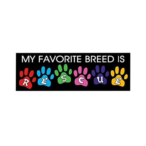AutoAufkleber 2 Pieces15.5Cm * 5Cm Meine Lieblingszucht Ist Rettungshund-Auto-Aufkleber-Lustiges Abziehbild PVC