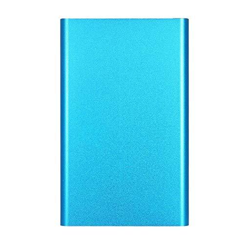 Disco duro externo portátil de 2 TB, USB 3.0, apto para PC, Mac, escritorio, ordenador portátil, MacBook, Chromebook (2TB, Blue)