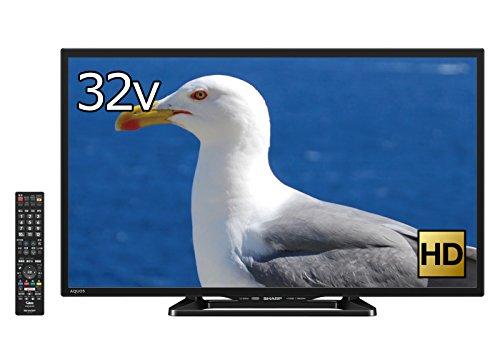 シャープ 32V型 液晶 テレビ AQUOS LC-32W35-B ハイビジョン 外付HDD対応(裏番組録画) Wi-Fi内蔵 ブラック